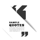 Quote blank template on white background. Stock Images