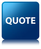 Quote blue square button Royalty Free Stock Photos