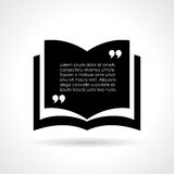 Quote book template Royalty Free Stock Image