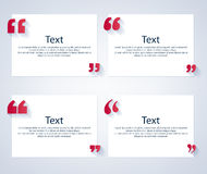 Quote boxes with marks set Stock Images