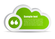 Quote bubble cloud. Add your text stock illustration
