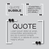 Quote bubble. Stock Photos