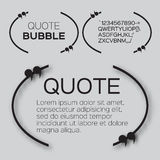 Quote bubble. Royalty Free Stock Images