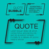 Quote bubble. Stock Images