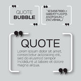 Quote bubble. Royalty Free Stock Image