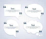 Quote bubble frames templates set. Royalty Free Stock Photos