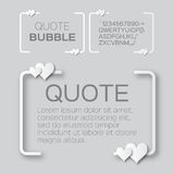 Quote bubble with hearts. Valentine's Speech bubble. Stock Image