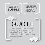 Quote bubble with hearts. Valentine's Speech bubble. Stock Images