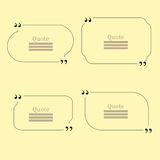 Quote Bubble. Set of Speech Bubbles Stock Photography