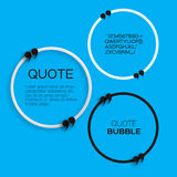 Quote bubble. Speech bubble. Citation text box template. Quote blank Stock Image