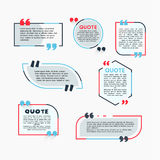 Quote Bubbles - modern vector color set of shapes with text. Quote Bubbles - modern vector color set of different shapes with filler text. Various sizes. Use Stock Photos