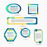 Quote Bubbles - modern vector color set of shapes with text. Quote Bubbles - modern vector color set of different shapes with filler text. Various sizes. Use Stock Photography