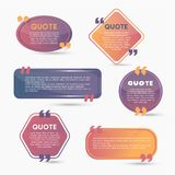 Quote Bubbles - modern vector color set of shapes with text Royalty Free Stock Images