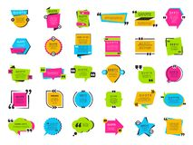 Quote bubbles. Texting marks decoration frame boxes text balloons tags vector collection