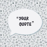 Quote card funny design with lifestyle pattern. Graphic illustration Royalty Free Stock Photos