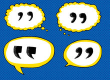Quote Dialog Bubbles Royalty Free Stock Images