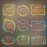 Quote forms template. In vector vector illustration