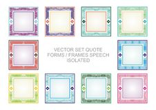 Quote frames with colorful design Stock Images