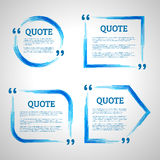 Quote frames. Modern block quote design elements. Quote text template. Technology lines. Technology lines quote frames Royalty Free Stock Photography