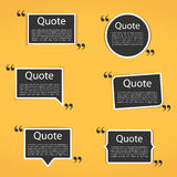 Quote Frames Stock Image