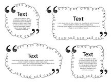 Quote frames templates set illustration. Royalty Free Stock Image