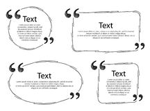 Quote frames templates set illustration. Royalty Free Stock Photography