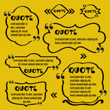 Quote frames.Vintage template with print information design quotes. Vector Typography Speech Bubble Banner Design Royalty Free Stock Photography