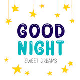 Quote Good night. Sweet Dreams. Royalty Free Stock Photos