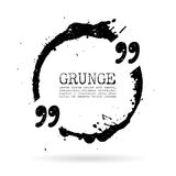 Quote grunge circle Stock Images