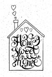 Quote Home sweet home Stock Photos