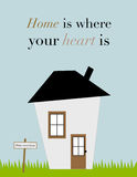 Quote: Home is where your heart is Stock Image