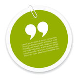 Quote icon Royalty Free Stock Photos