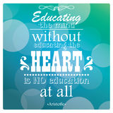 Quote, inspirational poster, typographical design, vector illust Royalty Free Stock Photography