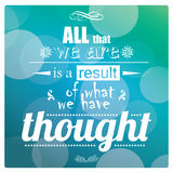 Quote, inspirational poster, typographical design, vector illustration stock illustration