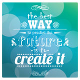 Quote, inspirational poster, typographical design, vector illust Stock Photos