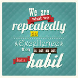 Quote, inspirational poster, typographical design, vector illust Royalty Free Stock Images