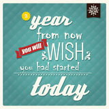Quote, inspirational poster, typographical design, vector illust Royalty Free Stock Photo