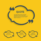 Quote line cloud set Royalty Free Stock Photography