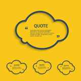 Quote line cloud set Royalty Free Stock Image