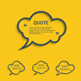 Quote line cloud speech bubbles set Royalty Free Stock Images