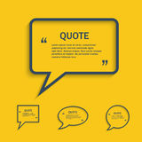 Quote line speech bubble set Royalty Free Stock Images