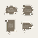 Quote mark speech bubbles set Royalty Free Stock Photography