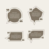 Quote mark speech bubbles set Royalty Free Stock Photos