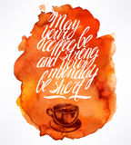 Quote and morning coffee Royalty Free Stock Photos