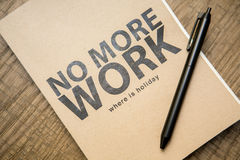 Quote notebook with a pen on the table Royalty Free Stock Photography