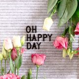 Quote Oh happy day royalty free stock photo