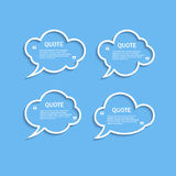 Quote outline cloud speech bubbles set Stock Photo