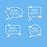 Quote outline speech bubble set Royalty Free Stock Photography