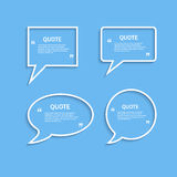 Quote outline speech bubble set Stock Photography