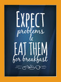 Quote poster. Qoute typographic decorative colorful poster Stock Photos